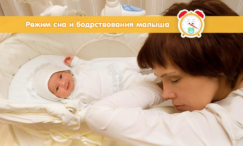 Режим сна и бодрствования новорожденного ребенка – спим правильно