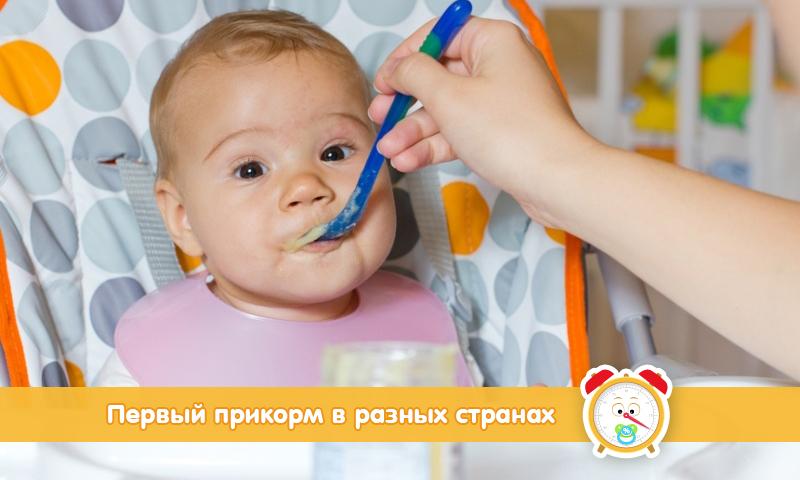 Правила введения первого прикорма в разных странах