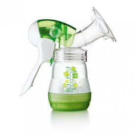 Молокоотсос ручной + бутылочка MAM