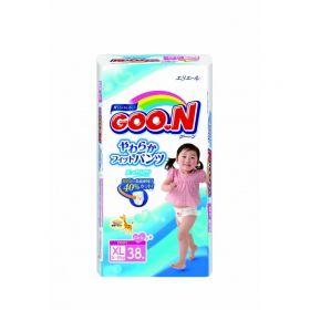 Подгузники-трусики для девочек 12-20 кг 38 шт. Goon