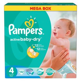 Подгузники Active Baby Maxi 7-14 кг 132 шт Pampers