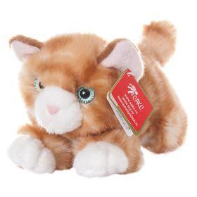 Мягкая игрушка Рыжий котик 22 см Aurora