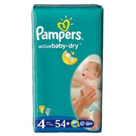 Подгузники Active Baby Maxi (7-14 кг), 54 шт. Pampers
