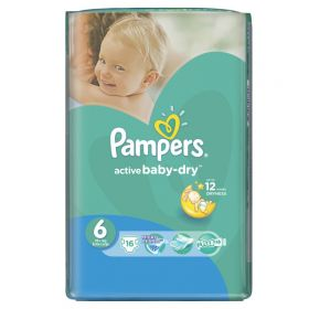 Подгузники  Active Baby Extra Large (15+ кг), 16 шт. Pampers