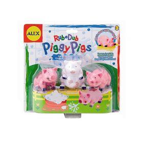 Игрушка для ванны Вымой поросенка ALEX