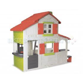 Игровой домик 2-х этажный коттедж для друзей Smoby