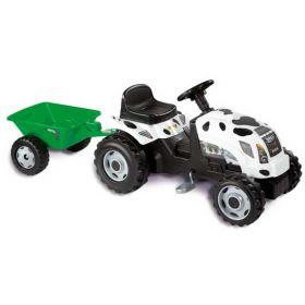 Педальная машина Трактор GM Thme Vache Smoby