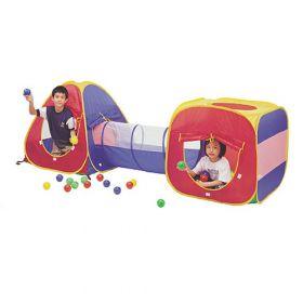 Дом-палатка + 100 шаров (конус+квадрат+туннель) Calida