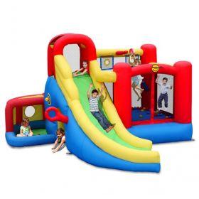 Надувной батут с горкой Игровой центр 11 в 1 9406 Happy Hop