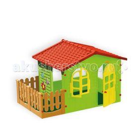 Игровой домик с забором Mochtoys