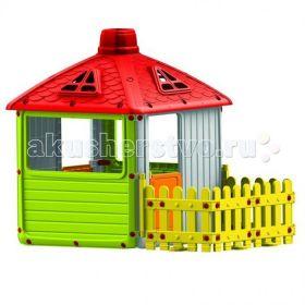 Игровой домик для улицы Городской дом с ограждением Dolu