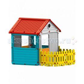 Игровой домик для улицы с ограждением Dolu