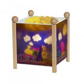 Светильник-ночник в форме куба Паровозик Trousselier