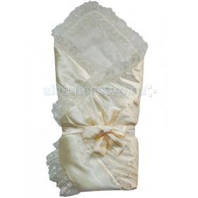 Конверт - одеяло с кружевом на завязке 95x95 Папитто