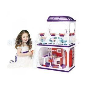 Дом для кукол Barbie (Барби) Конфетти С-1334 с мебелью Огонек