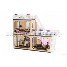 Коттедж для кукол Barbie (Барби) Коллекция С-1292 с мебелью Огонек
