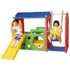 Игровой комплекс Дом с горкой и качели Haenim Toy