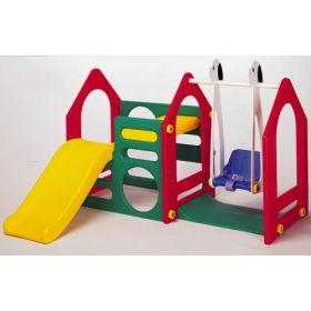Игровой комплекс Дом с горкой и качелями Haenim Toy