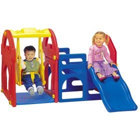 Игровой центр с горкой + качели Haenim Toy