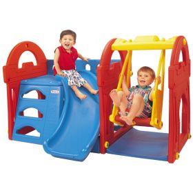 Игровой центр Маленький замок с горкой + качели Haenim Toy