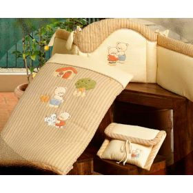 Biba - комплект: бортик,одеяло,наволочка BabyPiu