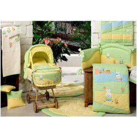 Acquerelli из ткани пике с вышивкой для кроватки BabyPiu