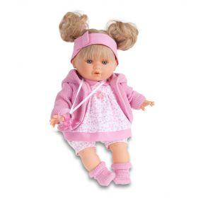 Munecas Antonio Juan Кукла Кристи в розовом, плачущая, 30 см Munecas Antonio Juan