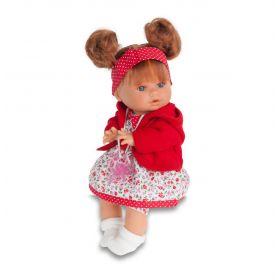 Munecas Antonio Juan Кукла Кристи в красном, плачущая, 30 см Munecas Antonio Juan