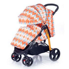Babyhit Прогулочная коляска Racy (оранжевая с ромбами) Babyhit