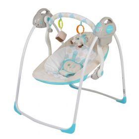 Baby Care Электрокачели Riva с адаптером (синий) Baby Care