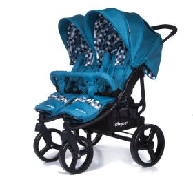 Baby Care Коляска для двойни Cruze Duo Blue Baby Care