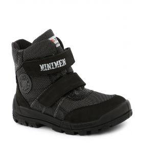 Minimen Ботинки утепленные на липучке (черные) Minimen