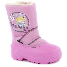 Дюна Сноубутсы Лисенок в шапке (розовый) Дюна