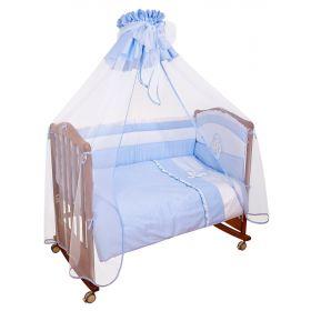 Сонный гномик, Комплект в кроватку Пушистик 3 предмета (голубой) Сонный гномик