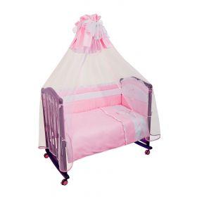 Сонный гномик, Комплект в кроватку Пушистик 3 предмета (розовый) Сонный гномик