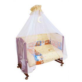 Сонный гномик Комплект в кроватку 7 предметов Лежебоки (желтый) Сонный гномик