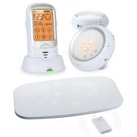Ramili Радионяня Baby RA300DuoSP с двумя детскими блоками и монитором дыхания Ramili