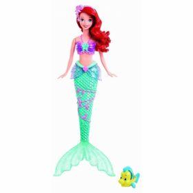 Mattel Кукла русалочка Ариель с фонтанчиком и рыбка Флаундер Mattel