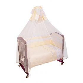Сонный гномик, Комплект в кроватку Пушистик 3 предмета (бежевый) Сонный гномик