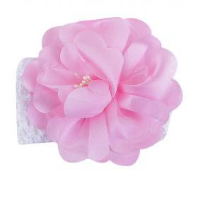 POLLO, Повязка с цветочком (бело-розовая) POLLO