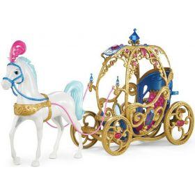 Mattel Игровой набор Disney Princess Лошадь с каретой для Золушки Mattel