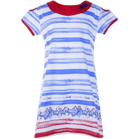 Goldy, Платье для девочки (белое/голубая полоска) Goldy