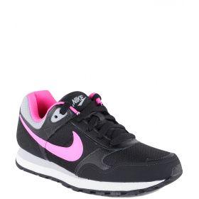 Nike, Кроссовки MD Runner для девочки (черно-розовые) Nike