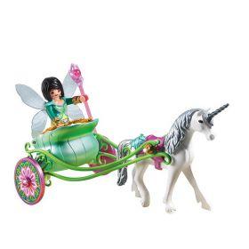 Playmobil Конструктор Карета с Единорогом и фея бабочка Playmobil