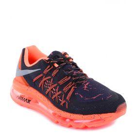 Nike, Кроссовки Air Max 2015 Lava (черно-оранжевые) Nike