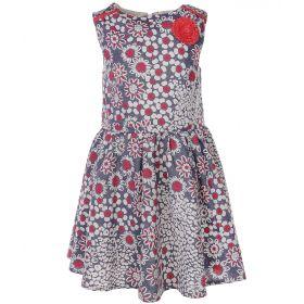 Crockid, Платье для девочки (серое/принт) Crockid