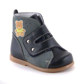 Скороход Детские ортопедические ботинки для мальчика (синие) Скороход