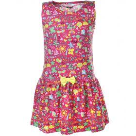 Crockid, Платье для девочки (розовый принт) Crockid