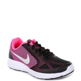 Nike, Кроссовки REVOLUTION 3 для девочки (черный/розовый) Nike