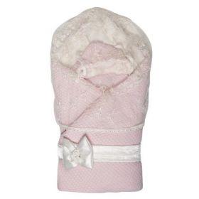 Сонный гномик, Конверт-одеяло на выписку Жемчужинка (розовый) Сонный гномик